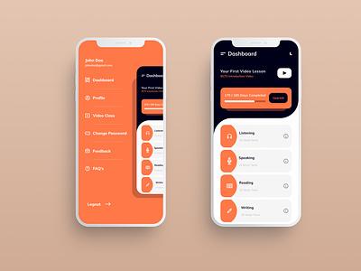 Menu   Dashboard minimal dashboard ui ielts homepagedesign menubar