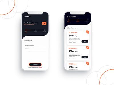 Enroll design app packages enroll sign up