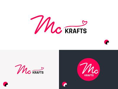 MC Krafts feminine ecommerce sketching illustraion logodesign minimal vector branding design logo