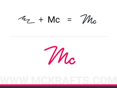MC Krafts Logo pencil sketch sketch logodesign minimal vector illustration branding logo rough sketch