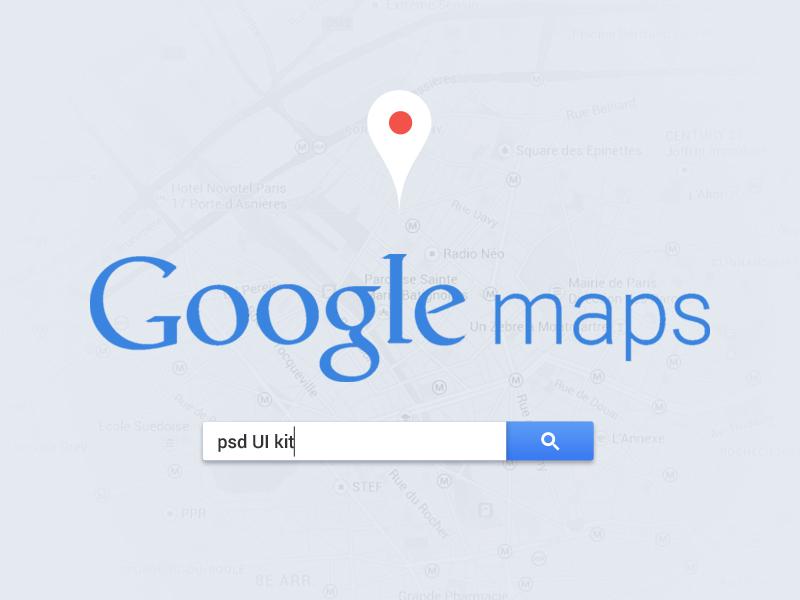 Google Maps Interface [Free PSD] google maps psd layout design vector