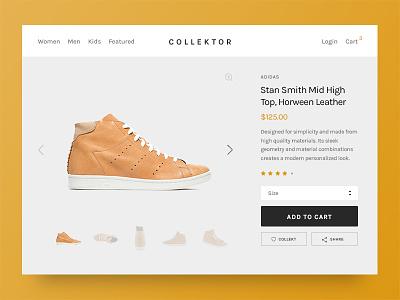 Daily UI 012 - E-Commerce shop (single item) gold shop adidas leather web transaction product page daily ui dailyui