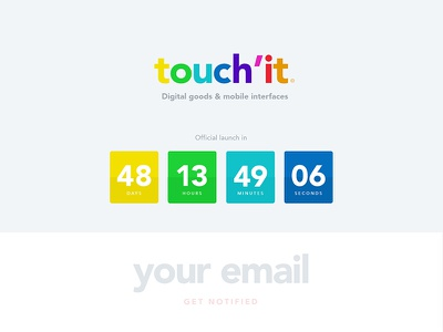 Daily UI 014 - Countdown Timer color timer countdown web