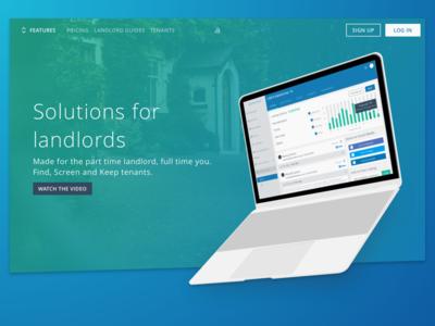 Landing Page landlord website homepage landing-page