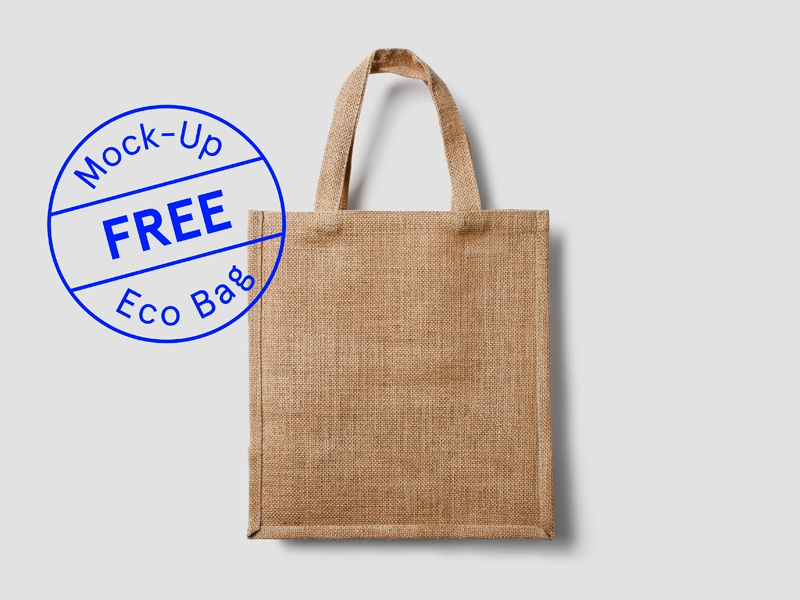 Free Eco Bag Mockup coffee food identity logo mock-up psd restaurant stationery template vintage hipster psddd