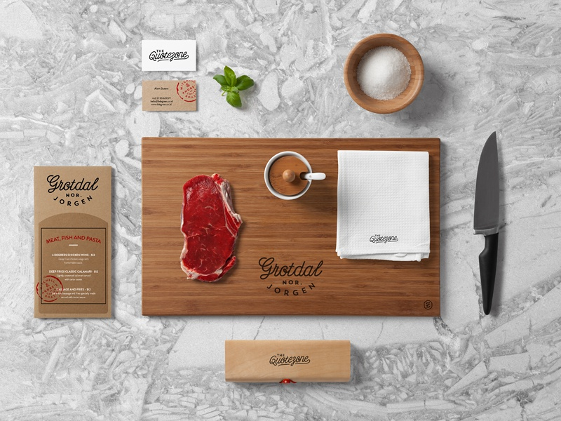 Restaurant & Food Branding Mock Up by forgraphic™ - Dribbble