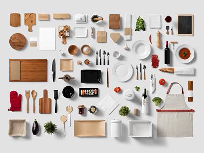 Restaurant and Food Psd Mockups free kitchen minimalist vintage craft bar hipster psd mockup brand template logo