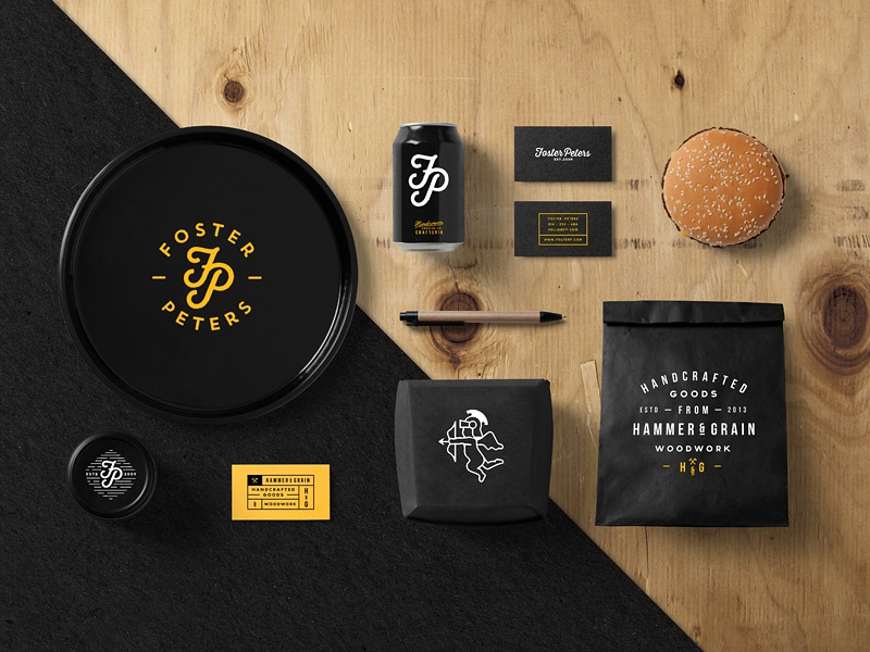 burger bar branding mockup by forgraphic u2122 on dribbble
