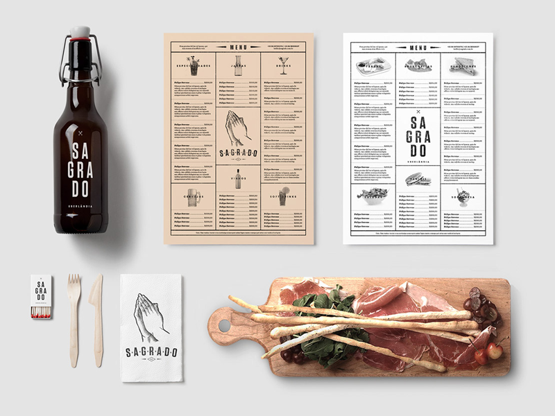 Restaurant & Bar PSD Mockups stationery drink packaging branding beer identity food menu bottle hipster template logo