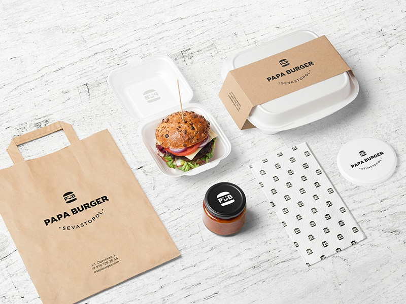 Burger Bar Psd Mockup By Forgraphic On Dribbble