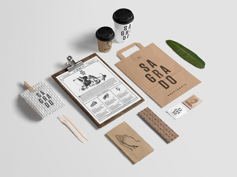 Coffee Mockup - Stationery logotype icons label packaging branding identity food restaurant coffee template logo