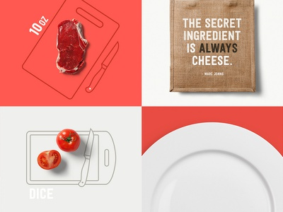 Food Mockups free typography icon template restaurant stationery branding identity logo download freebie psd