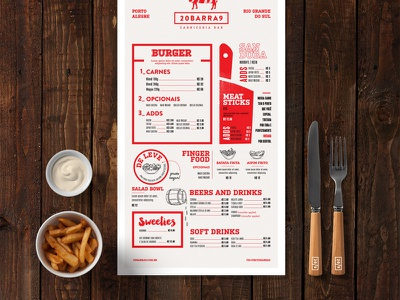 Bar Mockup logotype icons label packaging branding identity food restaurant menu template logo