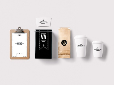 Coffee Shop Mockup psd drink packaging branding coffee identity food restaurant bar hipster template logo