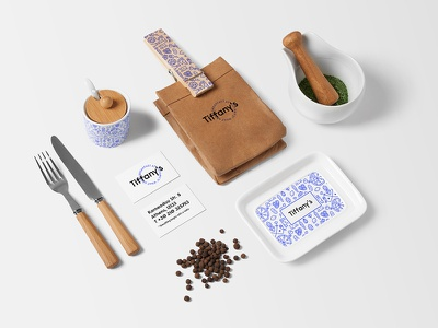 Restaurant Stationery Mockup drink packaging branding bakery identity food restaurant bar hipster template logo