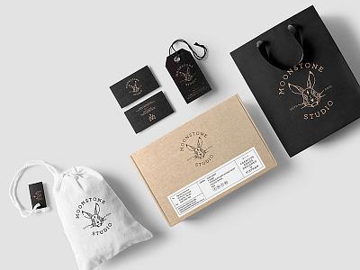 Packaging Mock-Up identity branding bag logo template mockup brand minimalist portfolio box modern label