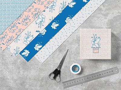 Fashion Packaging Mock-Up pattern identity branding bag template mockup brand minimalist logo box modern label