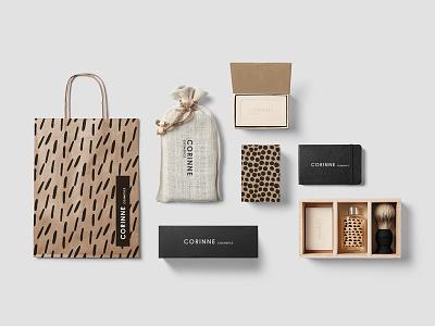 Cosmetics Packaging mockup logo template hipster bar bottle identity cosmetics branding packaging box