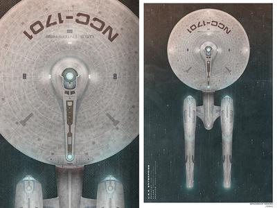 NCC-1701 christopher paul illustration spaceship illustrator photoshop vector space enterprise ncc-1701 print star trek boobies