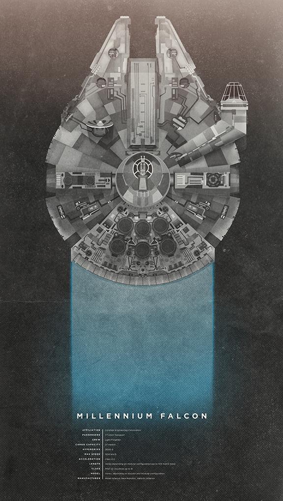 Falcon print