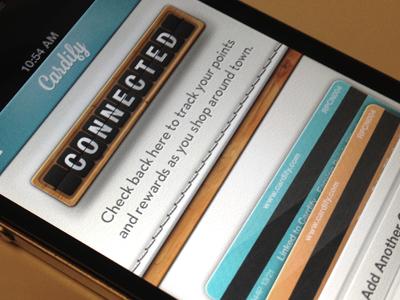 Cardify christopher paul ios cardify app store leather credit card texture iphone screenshot boobs ui