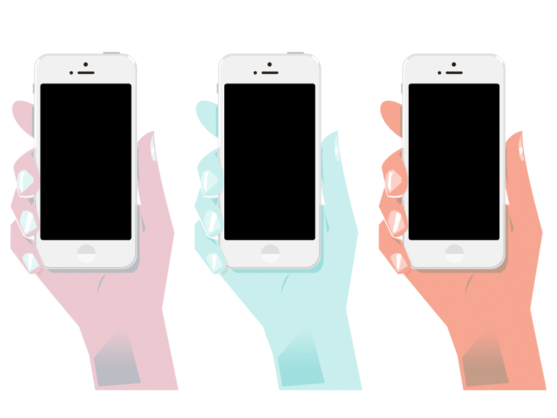 Hands christopher paul tinder boobies illustration hand iphone 5 iphone gradient orange blue purple