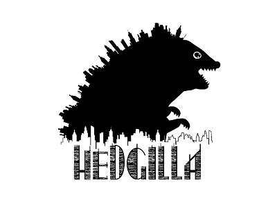 Logo design Hedgilla 🦔 #1 logo graphic design hedgehog negative space logo hedgilla illustrator weeklywarmup character logo design vector logo vector design