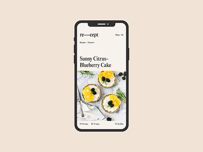 Re—Cept: Concept Recipe Guide ui typography typo food branding