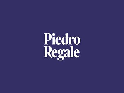 Piedro Regale typography logo branding