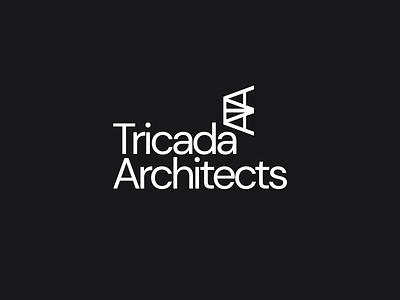 Tricada Architects typography minimal logo branding