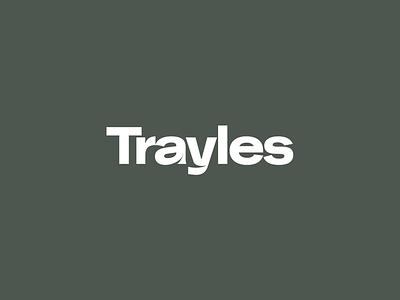 Trayles typography minimal logo branding