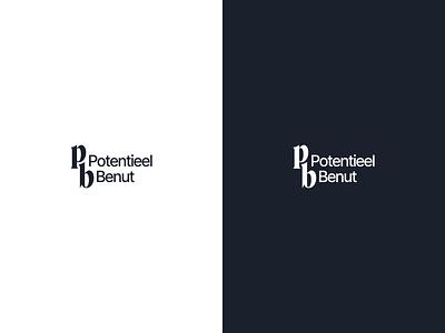 Potentieel Benut typography minimal logo branding