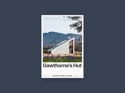 Poster: Gawthorne's Hut poster typography