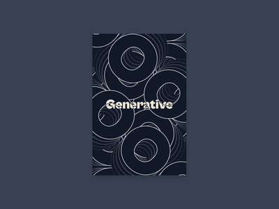 Poster: Generative poster typography