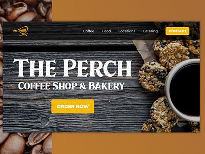Coffee Shop Web Design typography ux ui website web web designer web design and development web design adobe xd design adobe xd