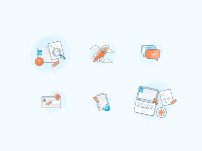 Playful Icons for Investing app colorful icon notebook startup creativity icons design illustration