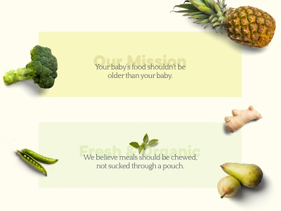 Babyfood Project - Headlines font design fruit vegetable food quote headlines graphic  design typography graphicdesign design uidesign