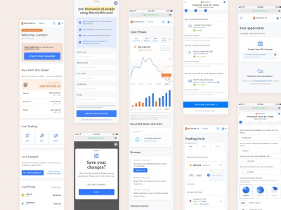 UI Cryptocurrency Investing App ios mobile webdesign stats ui minimal bitcoin ira investing admin dashboard stats cryptocurrency