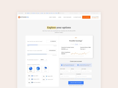 Cryptocurrency Investing App uidesign uxdesign login dashboard ui infographic money cash minimal web mobile investing stats graphs earnings dashboard