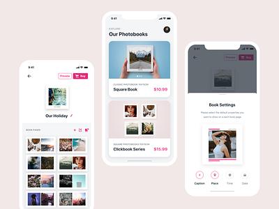Print Lab App - ClickBooks ios app design bookshelf lab printshop bookstore iphone uidesign mobile uxdesign books