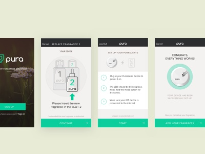 Smart Home UI - Setup your Fragrance Dispenser walkthrough dashboard ui illustration fragrance home smarthome minimal ios app mobile uidesign uxdesign setup dashboard