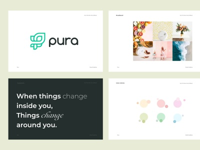 Pura Branding Styleguide - Smart Home Fragrances photography design illustration logo exploration manual branding and identity branding design