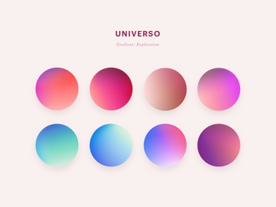 Lovely Gradients Exploration - Universo colorful art colorswatch color palette colorpalette gradient gradients cute playful colorful colors illustration