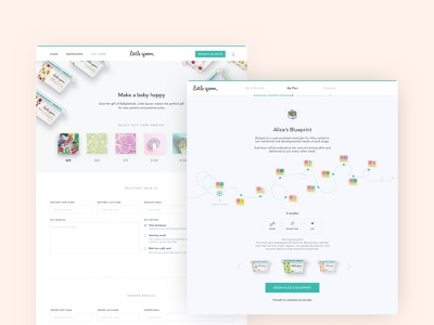Babyfood Subscription Website UI games fun colorful design kids illustration game food kids baby playful colorful ui ui design illustration uidesign uxdesign