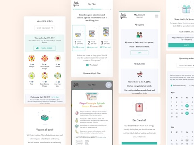 Babyfood Subscription Mobile Website UI ui design colorful fun happy baby kids playful responsive mobile uidesign uxdesign illustration nature food parents family