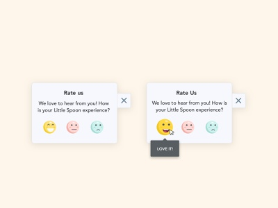 Little & Funny Rating Interaction - Babyfood Website UI webdesign ui design minimal illustration uxdesign uidesign feedback review rating happy playful colorful emoji animation rate