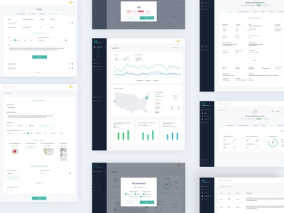 Admin Dashboard UI - Babyfood Ecommerce ui website uxdesign uidesign design order customer graphic graphs stats admin design admin panel minimal clean admin dashboard admin