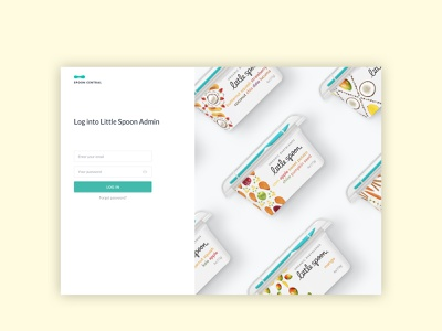 Admin Login - Babyfood Ecommerce clean ui admin signup registration login webdesign minimal illustration uxdesign uidesign clean