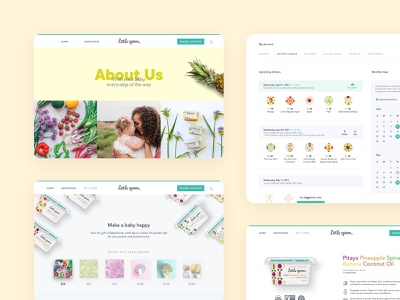 Babyfood Ecommerce Website UI color palette pastel branding ui design webdesign uidesign uxdesign illustration funny playful colorful