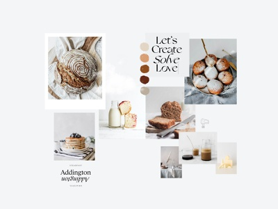 Moodboard for Modern Bakery cook book cooking baking bakeshop branding concept brand identity logodesign branding design brand inspiration graphic design branding art direction creative design moodboard